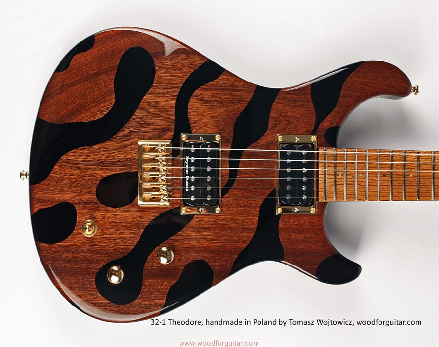 custom handmade electric guitar 32 1 theodore wood for guitar. Black Bedroom Furniture Sets. Home Design Ideas
